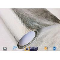 Cheap Hose Silver Heat Resistant Fabric / Aluminum Foil Fiberglass Composite Fabric wholesale