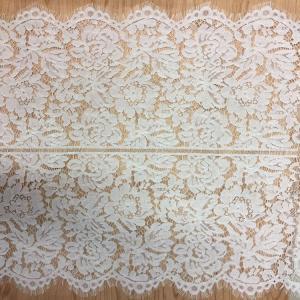 Cheap White Jacquard Eyelash Border Lace  For Garment wholesale