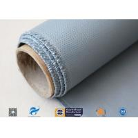 Cheap Satin Weave Silicone Coated Fiberglass Fabric 40/40g Gray Color 1m Width wholesale