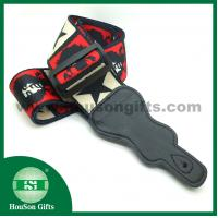 HSGS001 China free designs Polyester Guitar Strap black leather end guitar straps wholesale