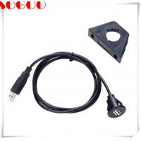 Cheap Waterproof Car Dashboard Flush Mount USB 2.0 Socket Extension Panel Cable wholesale