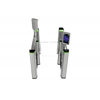 Cheap SUS304 Biometric Recognition Glass Turnstile Gate 50persons/min wholesale