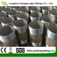 Cheap Supply Stainless Steel 304 316 316L Pipe Fittings Barrel Nipples/Double Thread Nipple, With NPT Thread wholesale