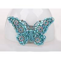 Blue Color Costume Jewelry Jewelry Pins & Brooches , Diamond Butterfly Pins And Brooches