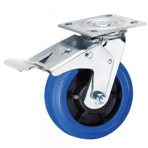 Cheap 5  6 8 Heavy Duty Rubber Wheel Swivel Caster Elastic High Rebound wholesale