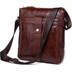 Cheap Dark Navy Oil Vintage Mens Leather Crossbody Bag with Adjustable Shoulder Strap wholesale