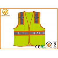 Buy cheap Mesh High Visibility Reflective Safety Vests , Construction Worker Safety Work Vest with Pockets  from wholesalers