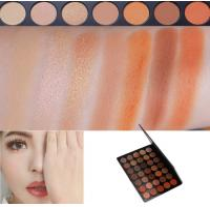 Cheap Neutral Eye Makeup Eyeshadow High Pigment Autumn Orange Toned Eyeshadow Palette wholesale