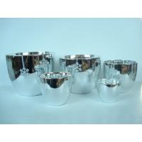 Cheap Silver Electroplated Ceramic Flower Pots For Plants Indoor 15.1 X 15.1 X 14.5 Cm wholesale