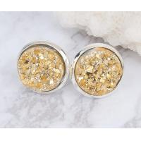 Cheap Raw Stone Stud Druzy Stud Earring Fashion Women Unique Stud Earrings For Engagement wholesale