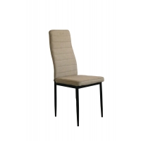Buy cheap Horizontal Lines 96CM Height Fabric Upholstered Dining Chairs from wholesalers