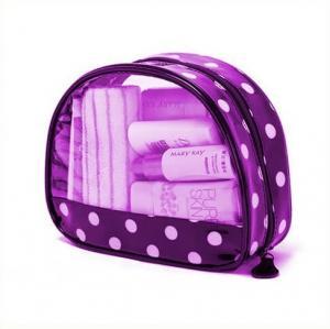Cheap Printed Transparent Waterproof Purple Pvc Makeup Bags For Travelers wholesale