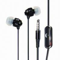Cheap Metal earbud earphones with oral plastic mic, with OEM logo wholesale