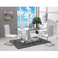 China Simple 0.35CBM 50kgs 76cm Solid Wood Dining Table Set on sale