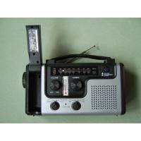 Cheap Hot Sale hand crank solar weather band radio with flashlight and lamp wholesale