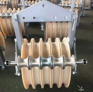 China Power Transmission Line Stringing Construction Bundled Conductor Aerial Helicopter Stringing Blocks on sale