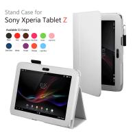 Cheap White Sony Xperia z Cover Case , Stand Tablet Leather Cases wholesale
