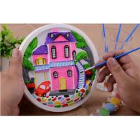 Cheap Educational Kids Arts And Crafts Toys Miraculous 3D Gypsum Clock Painting Set wholesale