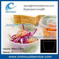 Cheap 850ml extra large clear plastic disposable thin wall fruit bowl/ food bowl injection molds wholesale
