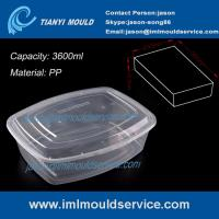 Cheap PP clear 3600ml thin wall plastic stackable food /vegetable storage containers mould wholesale