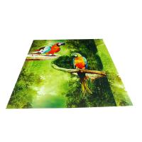 Cheap Parrot Pattern Green Plastic Commercial Ceiling Panels No Cracking wholesale