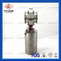 Cheap Chemical Industries  Sanitary Butterfly Valve   Clamped End Easy To Install wholesale