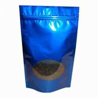 Buy cheap Stand Up Ziplock Tea Aluminum Foil Bags CPP VMPET Food Grade Packaging Bag from wholesalers