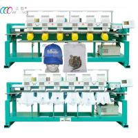Cheap 6 Heads Industry Cap / T-shirt Embroidery Machine , 12 Colors wholesale