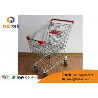 Cheap Wire Mesh  Type Folding Shopping Trolley On Wheels Foldable Trolley Cart wholesale