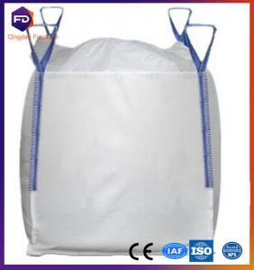 Buy cheap Flat Bottom Flexible Intermediate Bulk Containers 1 - 1.5 Ton FIBC PP Jumbo Bag from wholesalers