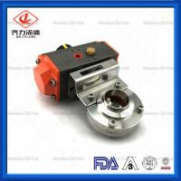 Cheap 10 Bar  Welded Butterfly Valve Lever Operated Food Industry Flow Control wholesale