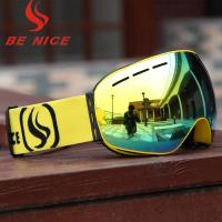 Winter Cycling Mirror Snow Ski Goggles For Low Light Conditions With PC Lens