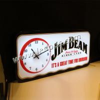 JIM BEAM LED Sign with Clock