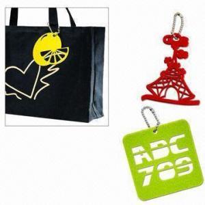 Cheap Laser-cut Felt Free-form Bag Pendant wholesale