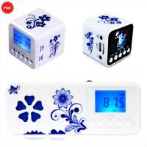 Cheap Multifunction Retro mini FM clock radio with micro sd card wholesale
