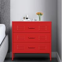 Cheap Home Three Drawer Metal Wardrobe Custom Color Simple Style Eco Friendly wholesale
