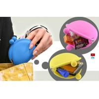 Cheap OEM M Blue / Yellow / Pink Silicone Coin Pouch / Purse / Bag / Wallet For Women wholesale