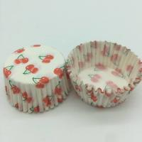 Cheap Cherry Pattern Greaseless Cupcake Liners, Muffin Cake Paper Cups For Children Party wholesale