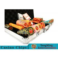 Cheap 10,000Pcs 11.5g Clay Poker Chip Sets With Aluminum Case For Gambling Games wholesale
