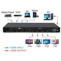 China HDMI 4 in 4 out Matrix  switch and splitter support 4K 30HZ on sale