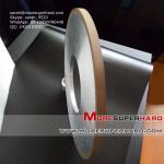 Cheap resin hybrid spral grinding wheel for sharping polishing blades   sarah@moresuperhard.com wholesale