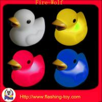 China red, blue, green, white, orange LED Lighting Duck bath toy for children on sale