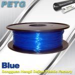 Cheap 3D Printer Transparent Material 1.75 / 3.0 mm PETG Fliament Blue Plastic Spool wholesale