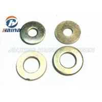 Cheap Color Plated Flat Washers Plain Carbon Steel Round Head For Iron Stamping Out wholesale
