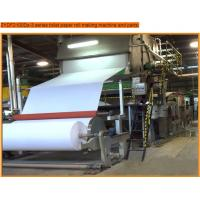 Cheap toilet paper roll making machine with 7t/d capacity,paper machine wholesale