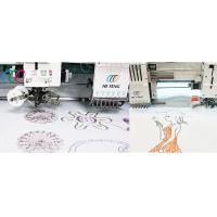 Cheap 2 Heads 6 Needles Coiling / Taping Embroidery Machine , Computerized Operation wholesale