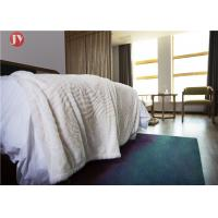 Cheap Silky Haired Plush Fur bedding 100% Polyester Double Layer Faux Fur with reversiable Fleece Throw wholesale