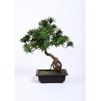 Cheap Leaning Bonsai Pine Tree BC076-4 , 55cm Artificial Outdoor Bonsai Trees Lush wholesale