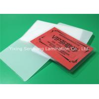 Cheap Round Corner Hot Lamination Film , Moisture Proof Laminating Sleeves Pouches wholesale