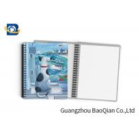 Cheap Durable Custom Printed Notebooks , A4/A5/A6 3D Lenticular Cover CMYK Offset Printing wholesale